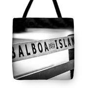 Balboa Island Bench In Newport Beach California Tote Bag