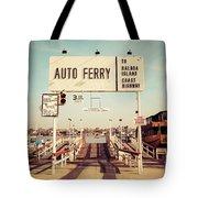 Balboa Island Ferry Newport Beach Vintage Picture Tote Bag