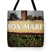 Balboa Marina Sign Newport Beach Picture Tote Bag by Paul Velgos