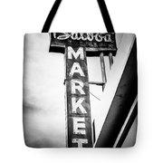 Balboa Market Sign Orange County California Photo Tote Bag