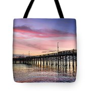 Balboa Pier Sunset Tote Bag by Kelley King