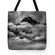 Balck And White Tantalus Peaks Tote Bag
