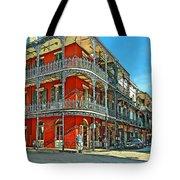 Balconies Painted Tote Bag