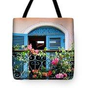 Balcony Blue By Diana Sainz Tote Bag