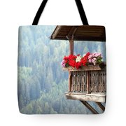 Balcony Overlooking The Forest Tote Bag