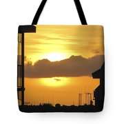 Key West Balcony Sunset Tote Bag