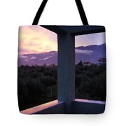 Balcony To Olympos Tote Bag