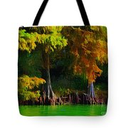 Bald Cypress 3 - Digital Effect Tote Bag