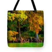 Bald Cypress 4 - Digital Effect Tote Bag