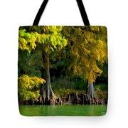 Bald Cypress Trees 1 - Digital Effect Tote Bag