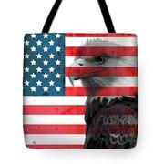 Bald Eagle American Flag Tote Bag