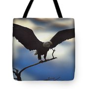Bald Eagle And Clouds Tote Bag