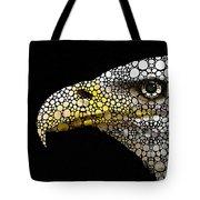 Bald Eagle Art - Eagle Eye - Stone Rock'd Art Tote Bag by Sharon Cummings
