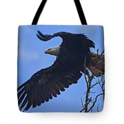 Bald Eagle At Take Off   #6109 Tote Bag
