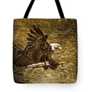 Bald Eagle Capture Tote Bag