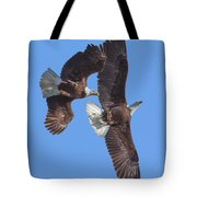 Bald Eagle Chase Over Pohick Bay Drb148 Tote Bag