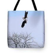 Bald Eagle Courtship Ritual  1337 Tote Bag