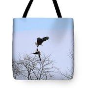Bald Eagle Courtship Ritual  1338 Tote Bag