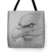 Bald Eagle Drawing Tote Bag