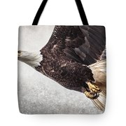 Bald Eagle Fly By Tote Bag