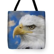 Bald Eagle In The Clouds Tote Bag