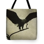 Bald Eagle Texture Tote Bag