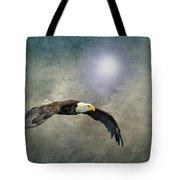 Bald Eagle Textured Art Tote Bag