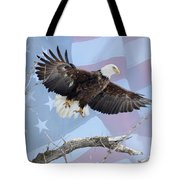 Bald Eagle Touch Of Pride Tote Bag