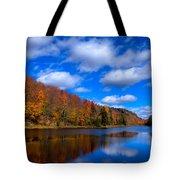 Bald Mountain Pond In Autumn Tote Bag