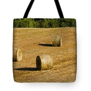 Bales In The Golden Hour Tote Bag