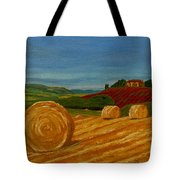 Field Of Golden Hay Tote Bag