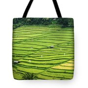 Bali Indonesia Rice Fields Tote Bag