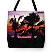 Bali Sunset Impasto Paint Version Tote Bag