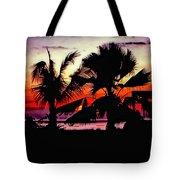 Bali Sunset Polaroid Transfer  Tote Bag