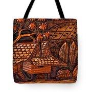 Bali Wood Carving Tote Bag