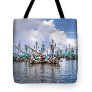 Balinese Fishing Boats Tote Bag