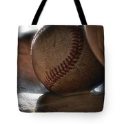 Ball And Glove Still Life Tote Bag by Bill Owen