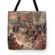 Ball At The Court, Illustration Tote Bag