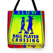 Ball Player Crossing Tote Bag