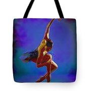 Ballerina On Point Tote Bag