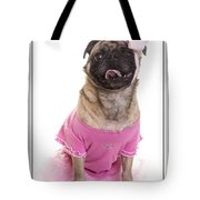 Ballerina Pug Dog Tote Bag