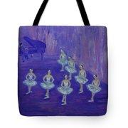 Ballerina Rehearsal Tote Bag