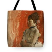 Ballet Dancer With Arms Crossed Tote Bag