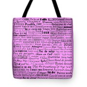 Ballet Terms Black On Pink  Tote Bag