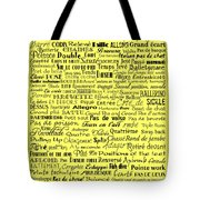 Ballet Terms Black On Yellow Tote Bag