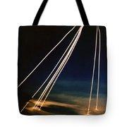 Ballistic Missile Paths Tote Bag