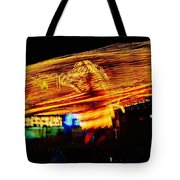 Ballons Ride At Night Tote Bag