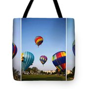Balloon Festival Panels Tote Bag