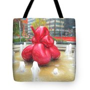 Balloon Flower In The Water Tote Bag