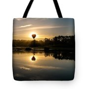 Balloon Over Snohomish River Tote Bag